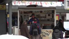 Small Street Store In Davos, Switzerland @ Train Depot Stock Footage
