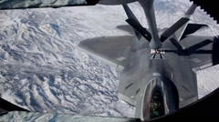 F-22 Aerial Refuel-Red Flag 16-1 Stock Footage
