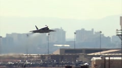 F-22 Raptor takes off at the Red Flag exercise 16-1 - stock footage