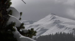 Mountain Scenic: Frigid Cold and Sparkling Snow Stock Footage