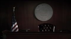 Judge's Bench in Louisiana Courtroom HD Video - stock footage