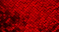 Red metallic square blocks background animation. Seamless loop. Footage