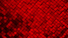 Red metallic square blocks background animation. Seamless loop. Stock Footage