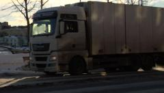Morning Traffic In Helsinki Finland During the Winter Stock Footage