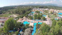 Corfu aquapark - stock footage