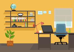 Creative office desktop workspace. mock up - stock illustration