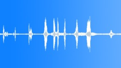 Radio static quick blips, vocal, music clips, tunning, squelch, antique telef Sound Effect