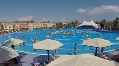 Corfu aquapark - stock footage