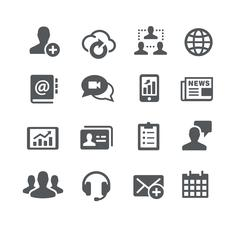 Business Communications Icons - Utility Series Stock Illustration