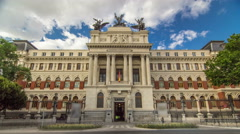 Beautiful government palace facade the Ministry of Agriculture building Stock Footage
