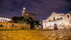 Motion Controlled Time-lapse of the Alamo in San Antonio, TX Stock Footage