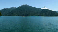 Cruising in the Chilean lake district  Stock Footage