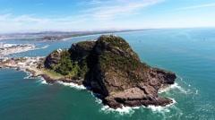 The highest Natural lighthouse , El Faro Mazatlan 180 degrees Stock Footage
