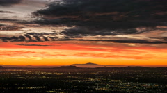 Los Angeles Orange Dawn Time Lapse Stock Footage