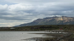 Time lapse of clouds over Puerto Natales, Chile Stock Footage