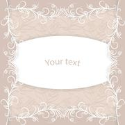 Vintage card with place for your text - stock illustration