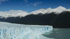 Time lapse of clouds over the Perito Moreno Glacier, Argentina - stock footage