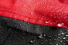 Stock Photo of waterproof technology for mountain clothes
