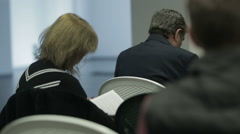 Business people attending a seminar Stock Footage