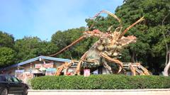 Rain Barrel Artisan Village Giant Lobster Islamorada, Florida Stock Footage