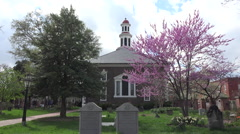 Alexandria Virginia historic Christ Church religion cemetery HD Stock Footage
