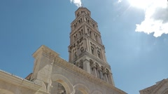 Split Diocletian Palace Peristil Stock Footage