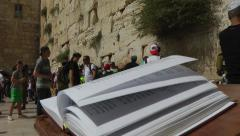 JERUSALEM, SUMMER 2014 - Book of torah in Jerusalem Stock Footage