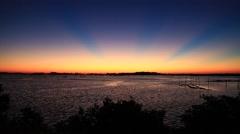 Gulf Coast Dawn unreal Stock Footage