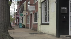 Alexandria Virginia old city sidewalk business HD Stock Footage