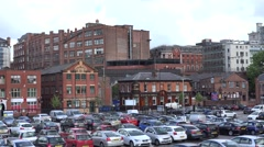 4K Panoramic view amazing England traditional architecture Manchester landmark  Stock Footage