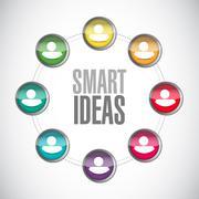 smart ideas community sign concept - stock illustration