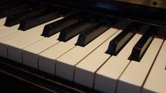 Piano Keys - slow slider shot - stock footage