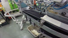 Conveyor Belt in the Textile Industry Stock Footage