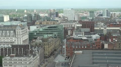 4K Manchester city panorama famous skyline landmark residential district traffic Stock Footage
