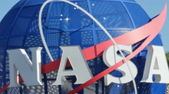 NASA Entrance Sign at Kennedy Space Center, 4K Stock Footage
