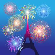Eiffel tower in Paris Stock Illustration