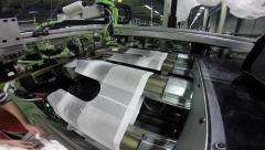 Modern Automation Technologies in Textile Mills Stock Footage