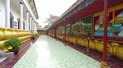 Inside Courtyard of Wat Preah Prom Rath. Video 4k Stock Footage