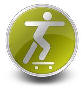 Icon, Button, Pictogram Skateboarding Piirros
