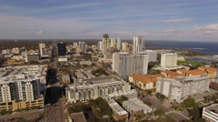 Aerial Downtown Saint Petersburg Florida Stock Footage