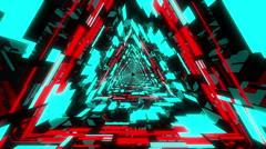 VJ Loop Neon Triangular Tunnel 1 Stock Footage