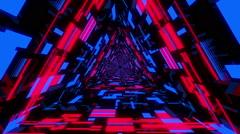 VJ Loop Neon Triangular Tunnel 2 Stock Footage