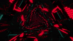 VJ Loop Neon Triangular Tunnel 3 Stock Footage