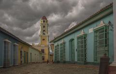 Bell tower and building in Trinidad, Sancti Spiritus, Cuba Kuvituskuvat