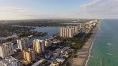 Aerial Hollywood Beach Florida Stock Footage
