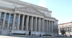 Archives of the United States of America building in Washington DC 4k - stock footage