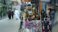 Commercial Street in Middle East. Manama Souk in Bahrain.  Stock Footage