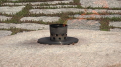 Arlington Cemetery Eternal Flame President Kennedy grave HD Stock Footage