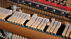 Piano Hammers Playing Arpeggios Stock Footage