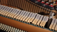Inside a Piano Playing Music Stock Footage